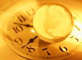 globe-clock-yellow