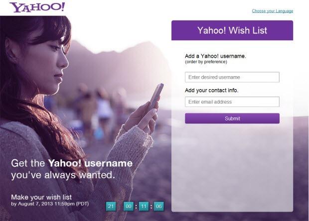 yahoo-username-wishlist